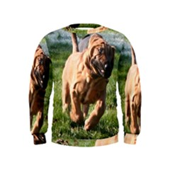 Bloodhound Running Kids  Sweatshirt