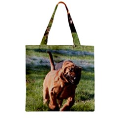 Bloodhound Running Zipper Grocery Tote Bag