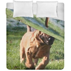 Bloodhound Running Duvet Cover Double Side (California King Size)