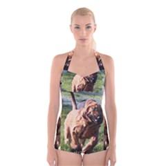 Bloodhound Running Boyleg Halter Swimsuit