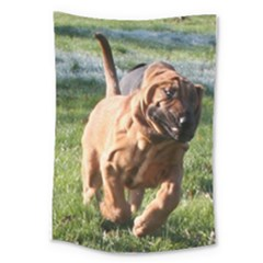 Bloodhound Running Large Tapestry