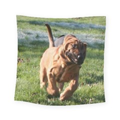 Bloodhound Running Square Tapestry (Small)