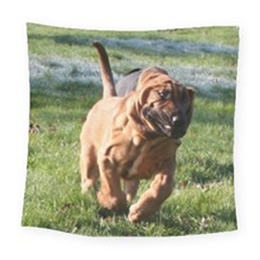 Bloodhound Running Square Tapestry (Large)