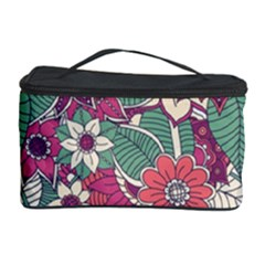 Seamless Floral Pattern Background Cosmetic Storage Case