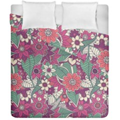 Seamless Floral Pattern Background Duvet Cover Double Side (california King Size)