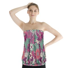 Seamless Floral Pattern Background Strapless Top