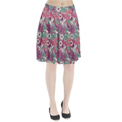 Seamless Floral Pattern Background Pleated Skirt