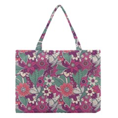 Seamless Floral Pattern Background Medium Tote Bag