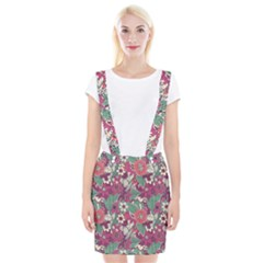 Seamless Floral Pattern Background Suspender Skirt