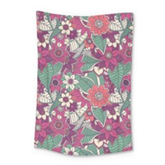 Seamless Floral Pattern Background Small Tapestry