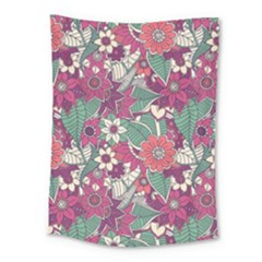 Seamless Floral Pattern Background Medium Tapestry