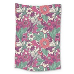 Seamless Floral Pattern Background Large Tapestry