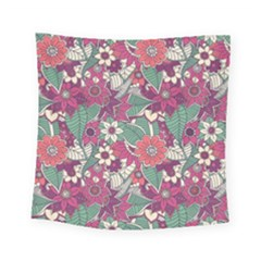 Seamless Floral Pattern Background Square Tapestry (small)