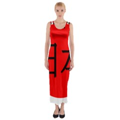 Japan Japanese Rising Sun Culture Fitted Maxi Dress