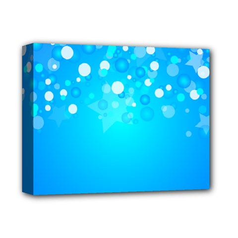 Blue Dot Star Deluxe Canvas 14  x 11