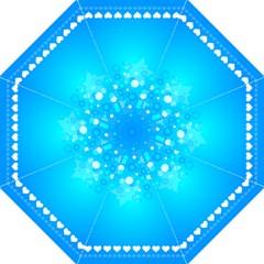 Blue Dot Star Hook Handle Umbrellas (Medium)