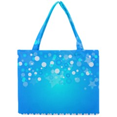 Blue Dot Star Mini Tote Bag