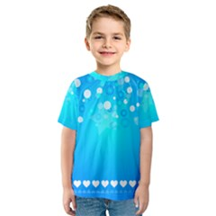 Blue Dot Star Kids  Sport Mesh Tee
