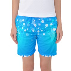 Blue Dot Star Women s Basketball Shorts