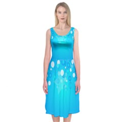 Blue Dot Star Midi Sleeveless Dress