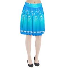 Blue Dot Star Pleated Skirt