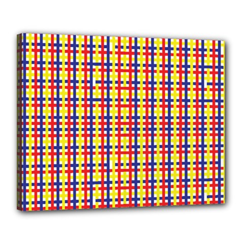 Yellow Blue Red Lines Color Pattern Canvas 20  x 16