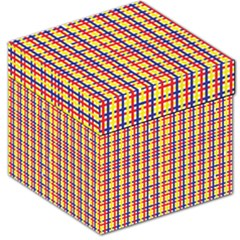 Yellow Blue Red Lines Color Pattern Storage Stool 12