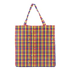 Yellow Blue Red Lines Color Pattern Grocery Tote Bag