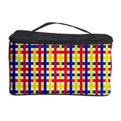 Yellow Blue Red Lines Color Pattern Cosmetic Storage Case