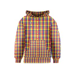 Yellow Blue Red Lines Color Pattern Kids  Pullover Hoodie