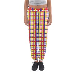 Yellow Blue Red Lines Color Pattern Women s Jogger Sweatpants