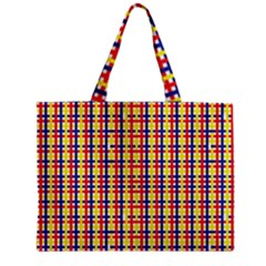 Yellow Blue Red Lines Color Pattern Zipper Mini Tote Bag