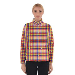 Yellow Blue Red Lines Color Pattern Winterwear