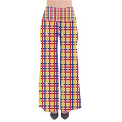 Yellow Blue Red Lines Color Pattern Pants