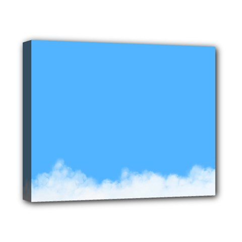 Blue Sky Clouds Day Canvas 10  X 8