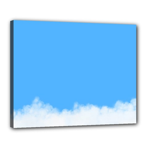 Blue Sky Clouds Day Canvas 20  x 16
