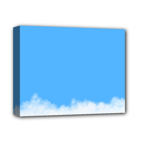 Blue Sky Clouds Day Deluxe Canvas 14  x 11