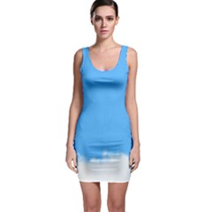 Blue Sky Clouds Day Sleeveless Bodycon Dress