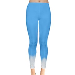 Blue Sky Clouds Day Leggings