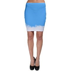 Blue Sky Clouds Day Bodycon Skirt