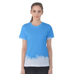 Blue Sky Clouds Day Women s Cotton Tee