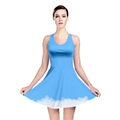 Blue Sky Clouds Day Reversible Skater Dress