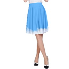 Blue Sky Clouds Day A-Line Skirt
