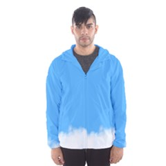 Blue Sky Clouds Day Hooded Wind Breaker (Men)