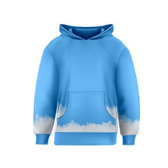 Blue Sky Clouds Day Kids  Pullover Hoodie