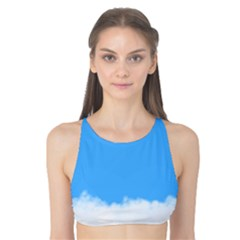Blue Sky Clouds Day Tank Bikini Top
