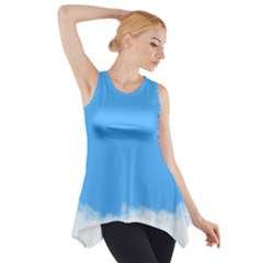 Blue Sky Clouds Day Side Drop Tank Tunic