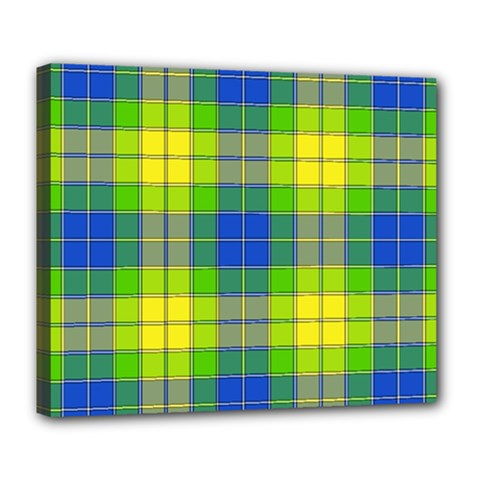 Spring Plaid Yellow Deluxe Canvas 24  X 20