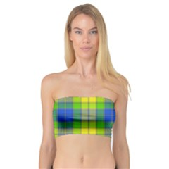 Spring Plaid Yellow Bandeau Top