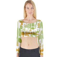 Angerine Blenko Glass Long Sleeve Crop Top